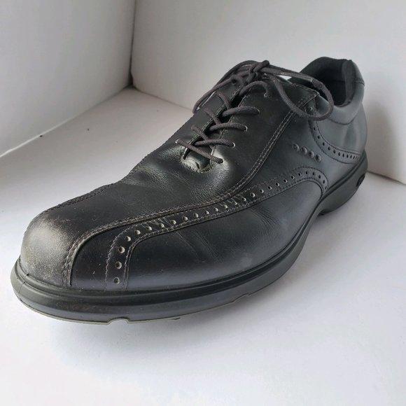 Ecco   Hydromax Black Oxford Golf Shoes 46